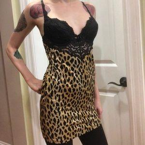 Victoria's Secret 34B leopard print lingerie